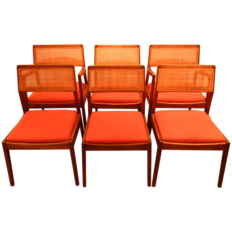 Six Jens Risom Dining Chairs